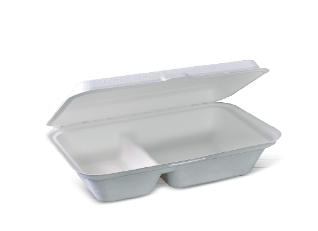Small 2-compartment sugarcane box