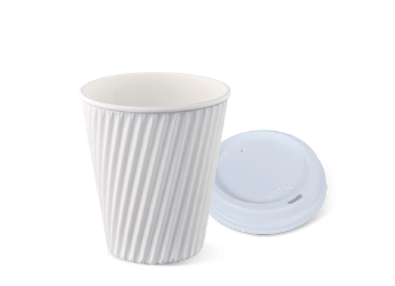 12oz WHITE RIPPLE-WRAP™  Cup
