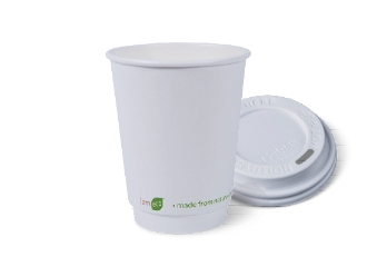 12oz I am eco™ Smooth DOUblE Wall Hot Cup & LID